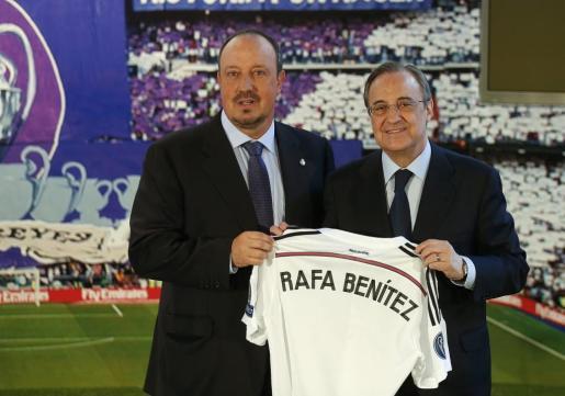 Florentino Pérez y Rafa Benítez.