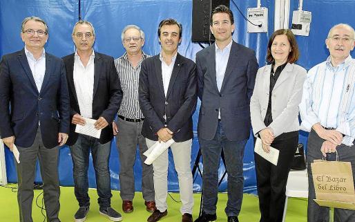 Joan Rotger, Toni Sureda, Francesc Sanchis, Toni Vera, Fernando Gilet, Catalina Sureda y Lleonard Muntaner.