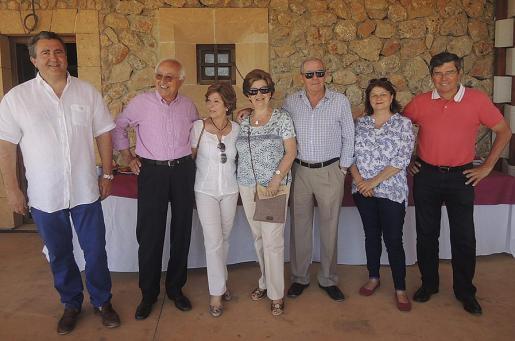 Ramón Servalls, Sebastián Rubí, María Llaneras, Ana María Caldentey, Juan Company, Lydia E. Corral y Ramón Vaca.