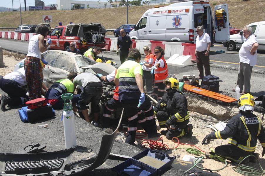 Accidente en la MA-20