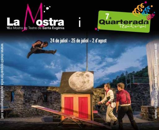 Cartel promocional de La Mostra y la 7a Quarterada Teatral.