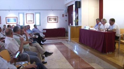 La asamblea general de la patronal hotelera se celebró ayer en el hotel Bellamar de Sant Antoni. Foto: TEF TV
