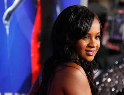Bobbi Kristina Brown, hija de los cantantes Whitney Houston y Bobby Brown.