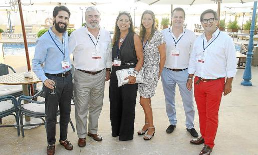 Gabriel Buades, Rafel Salas, Magda Pons-Quintana, Teresa Mir, Román Palacios y Juan Carlos Fernández.