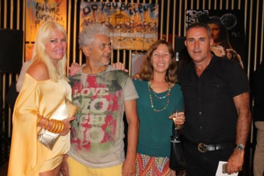 De izq. a dcha. Cristina Torres, Romero, Catina Costa y Jorge Inchausti.