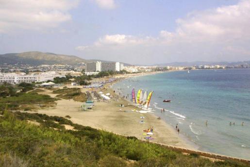 Imagen de la Playa d'en Bossa.
