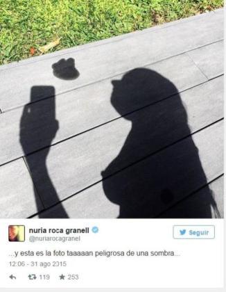 Esta es la imagen que Nuria Roca colgó en su cuenta de Instagram.
