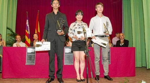 Los premiados durante la gala de ayer.
