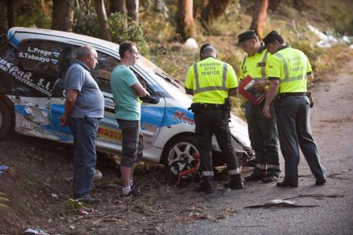 Vista del lugar donde esta tarde siete personas murieron tras ser arrolladas por un coche que participaba en el Rally de A Coruña.