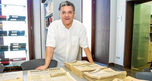 Andreu Carles López el día que hizo la donación al Arxiu.