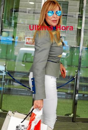Ana Obregón, a su llegada a la clínica Rotger.