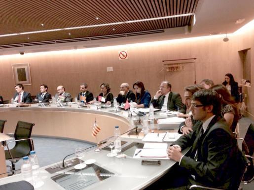 Iago Negueruela, Pedro Jiménez y Pilar Sansó durante su participación este miércoles en la Conferencia Sectorial de Industria y en la de Comercio Interior.
