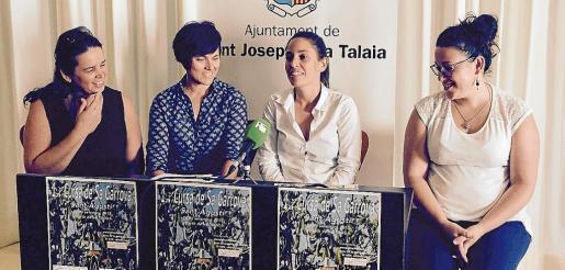 La primera edición de sa Cursa de Sa Garrova se presentó ayer por la mañana en el Ayuntamiento de Sant Josep con la presencia de Toñi Cardona (vicepresidenta de Apneef); la concejala de Deportes y Bienestar Social del consistorio, Ana Ribas; la presidenta del Centre Cultural es Vedrà, Inés Ribas, y la presidenta de la Associació de Veïns de Sant Agustí, Maria Tur.