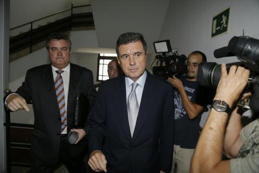 Jaume Matas, a su llegada a los juzgados.