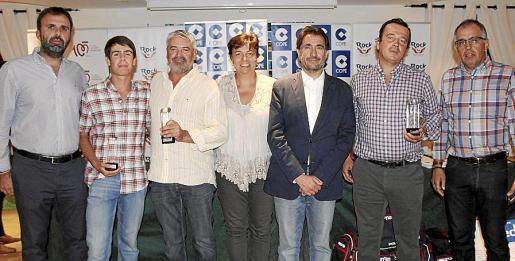 Bernat Llobera, Marc y Salvador Delgado, Susanna Moll, Xavi Bonet, Ignacio Barrio y Antonio Martínez.