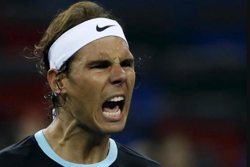 Rafael Nadal celebró con una gran exclamación su victoria ante Raonic,