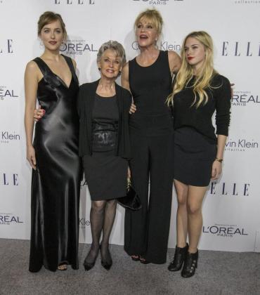 Dakota Johnson, Tippi Hedren, Melanie Griffith y Stella del Carmen Banderas.