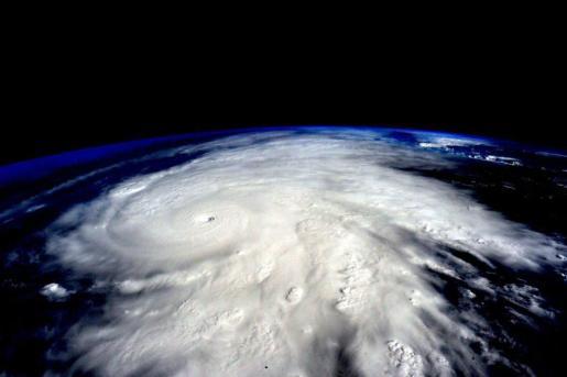 El huracán Patricia, visto desde el espacio.