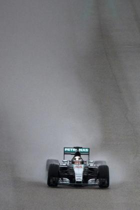 Lewis Hamilton, durante el tercer entrenamiento libre en el circuito de Las Américas.