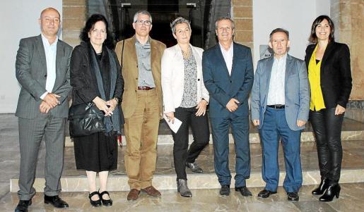 Javier Atauri, Pilar Ribal, Norbert Tomás, Eva Buch, Joan Boned, Miquel Perelló y Francisca Niell.