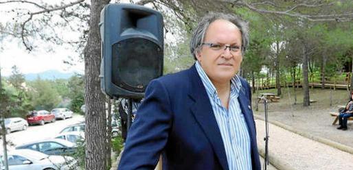 Pedro Requejo Novoa el día de la inauguración. Foto: ARGUIÑE ESCANDÓN