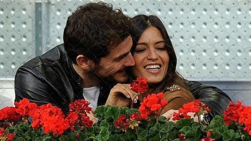 Imagen de archivo del portero Iker Casillas y la periodista Sara Carbonero en el Masters 1.000 de Madrid.