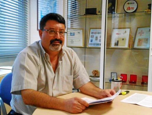 Carlos Martí Villalba, en la sede de la Asociaciación de Donantes de Sangre en Cruz Roja.