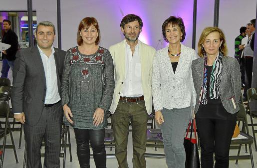 Virgilio Moreno, Francina Armengol, Joan Ramis, Merçé Zazurca y Antonia Sabater.
