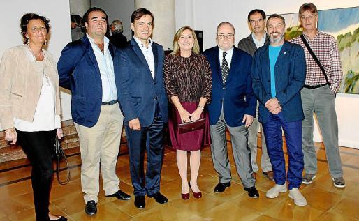 """Cristina Planas, Fernando Robledo, Francesc Miralles, Gudi Moragues, Joan Oliver """"Maneu"""", Xisco Riera, Rafel Creus y Biel Pons."""