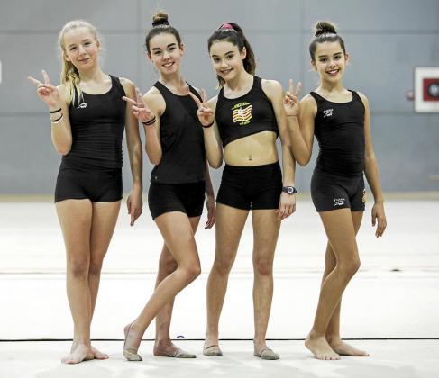 Aida Orvay, Ralica Balán, Carla Riera e Ivana Torres, gimnastas que acudirán a tierras rusas.
