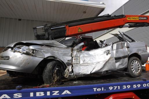 El coche en el que iba la víctima.