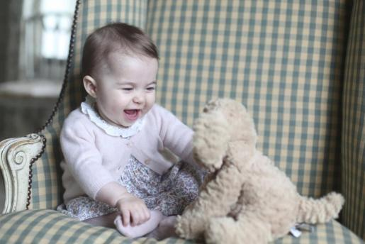 Britain's Princess Charlotte is seen in this photograph taken by her mother Catherine, Duchess of Cambridge, in November 2015 at Anmer Hall in Sandringham, and released by Kensington Palace in London on November 29, 2015.