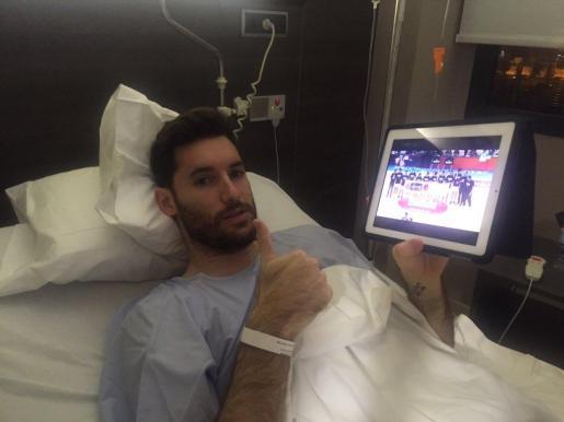 Rudy Ferenández tras la operación.