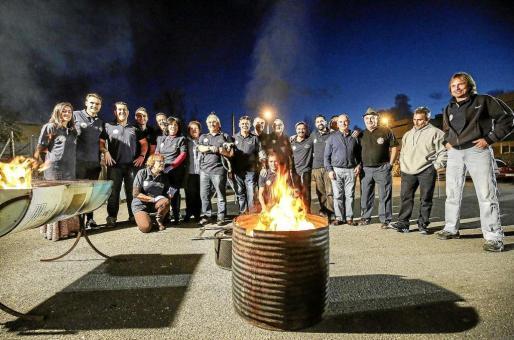 Imagen de los participantes en la Fiesta anual Castaña-Magosto de origen gallego. Foto: A. ESCANDÓN