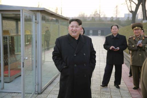 El dictador norcoreano Kim Jong-un en una foto de la agencia KCNA.