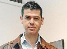 El pintor y profesor de arte, Miguel Ángel López. Foto: M.G.