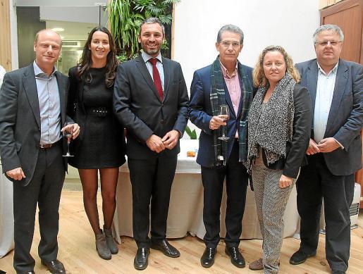 José Mª Bauzá de Mirabó, Patricia Cordón, Manuel G. Frutos, Francisco Tomé, Mª Antònia Binimelis y Rafael Roig.