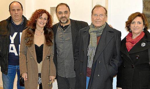 Mateu Pujol, Joana Carbonell, Miquel Segura, Toni Llabrés y Antònia Noguera.