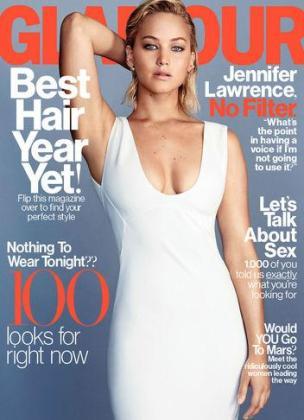 Jennifer Lawrence, en la portada de la revista Glamour.