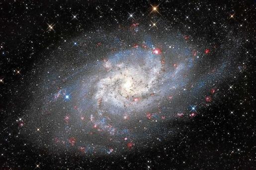 Imagen de Marco A. Yuste de la galaxia M33. Foto: AAE