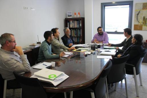 Momento de la reunión con epresentantes de Unió de Pagesos.