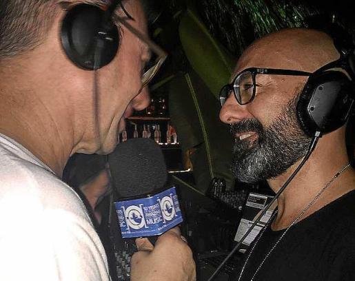 David Moreno durante una entrevista en Playa del Carmen. Foto: I. GLOBAL RADIO