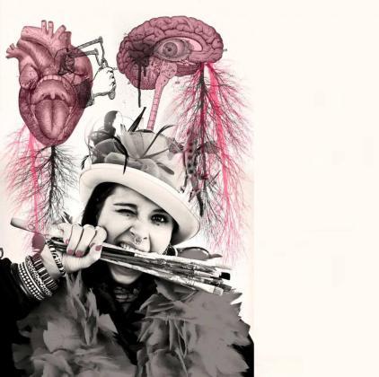 La artista madrileña expone sus características obras hasta el próximo 29 de febrero en Can Jordi. Foto: V. G.