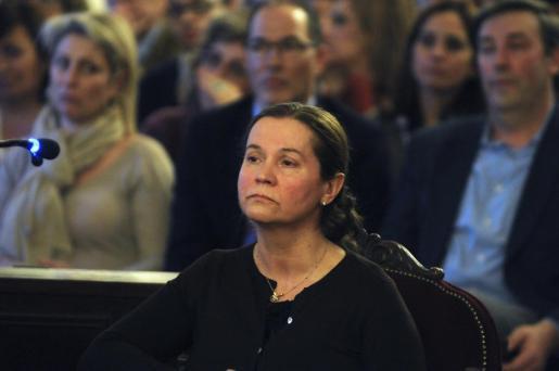 Montserrat González durante su declaración en el juicio que tiene lugar en la Audiencia Provincial de la capital leonesa.