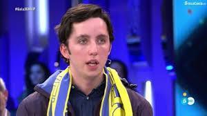 Imagen televisiva de Fran Nicolás, tras su expulsión.
