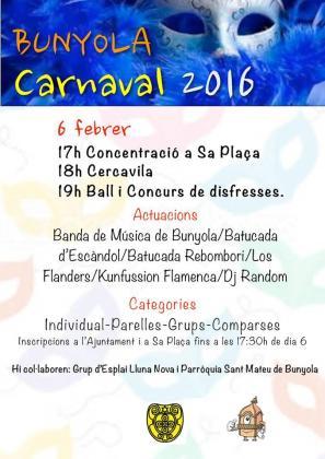 Cartel del carnaval de Bunyola.