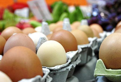 Huevos payeses y ecológicos en el Mercat Nou de Eivissa. Fotos: D.M.