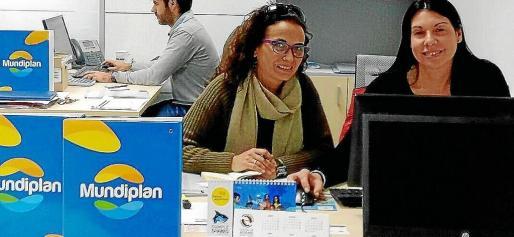Oficina principal en Palma de la UTE Mundiplan, que está formada por el grupo Iberia, IAG7, Alsa y el touroperador Gowaii.