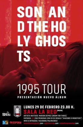 Cartel de la presentación del nuevo disco '1995' en la La Red Club.