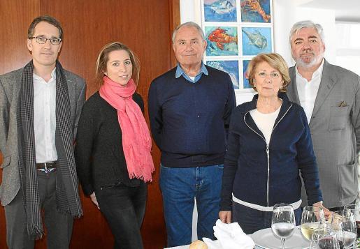 Jorge Nasarre, Teresa de Mier, Francisco Forteza, Coloma Coll y Rafael Salas.